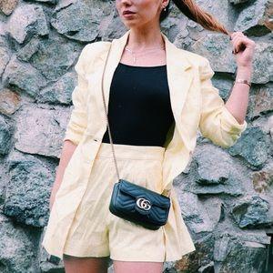 Majorelle Yellow Blazer And Short Set